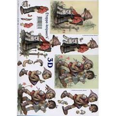 Χαρτιά για Decoupage 3D, A4