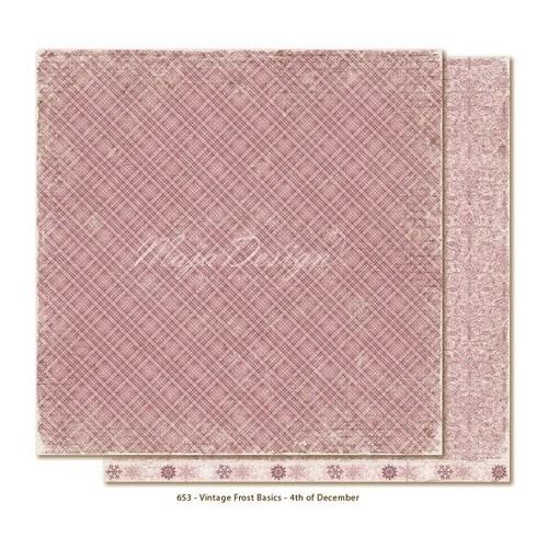 Χαρτί Scrapbooking Vintage Frost Basics 4th of Dec, διπλής όψης