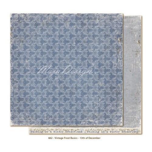 Χαρτί Scrapbooking Vintage Frost Basics 13th of Dec, διπλής όψης