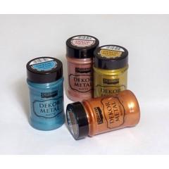 Μεταλλικά χρώματα κιμωλίας Dekor Metal 100 ml, Pentart