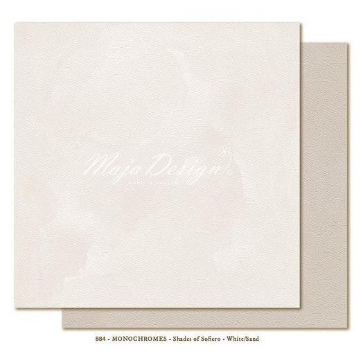 Χαρτί Scrapbooking Maja Collection, Monochromes-White/Sand, διπλής όψης