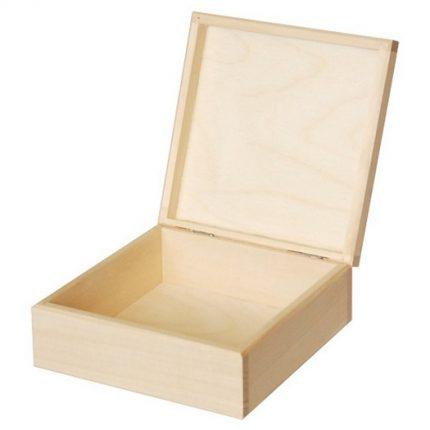 Ξύλινo κουτιά ειδικά σχεδιασμένo 16x16xY6cm