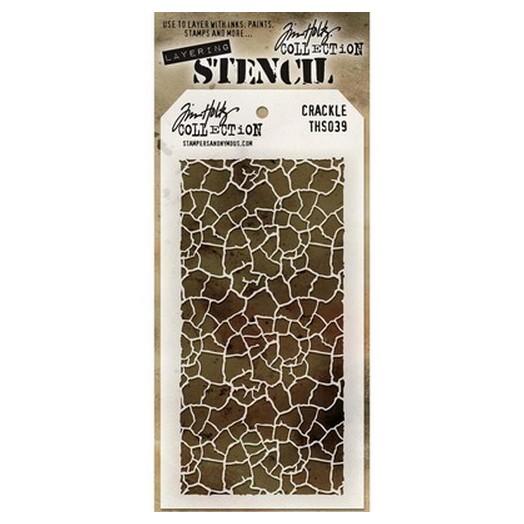 Tim Holtz Layered Stencil, Crackle 18x9,5cm