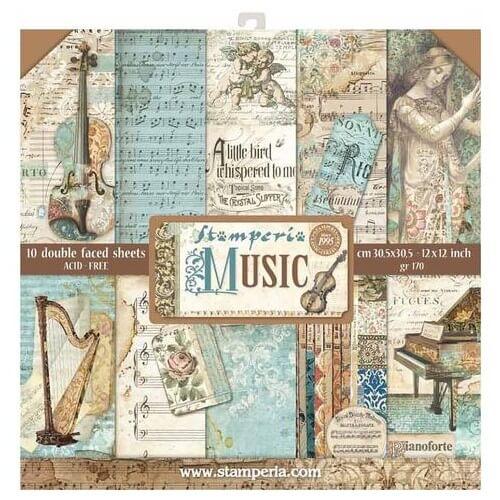 Χαρτιά scrapbooking 10τεμ Music, Stamperia