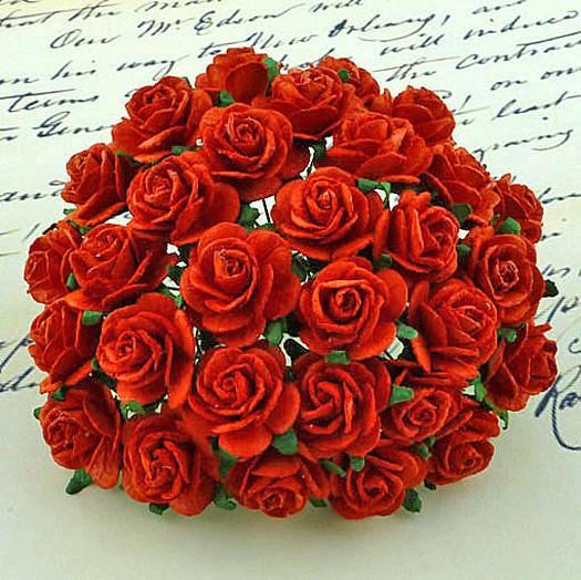 Λουλούδια τριανταφυλλάκια RED, 10mm