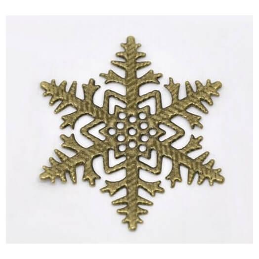 Antique Bronze Snowflakes 45x45mm - σετ 8 τεμ.