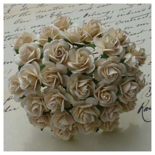 Λουλούδια, DEEP IVORY ROSES, 20mm