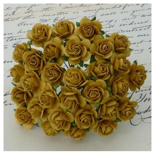 Λουλούδια OLD GOLD ROSES, 15mm