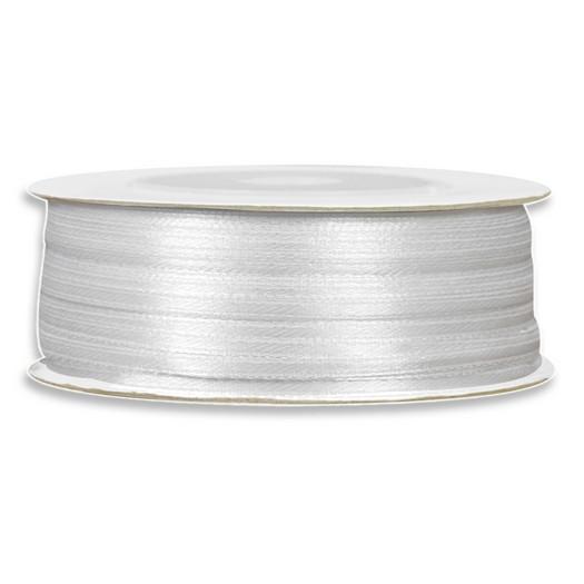 Κορδέλα σατέν, 100m x 3mm, λευκή