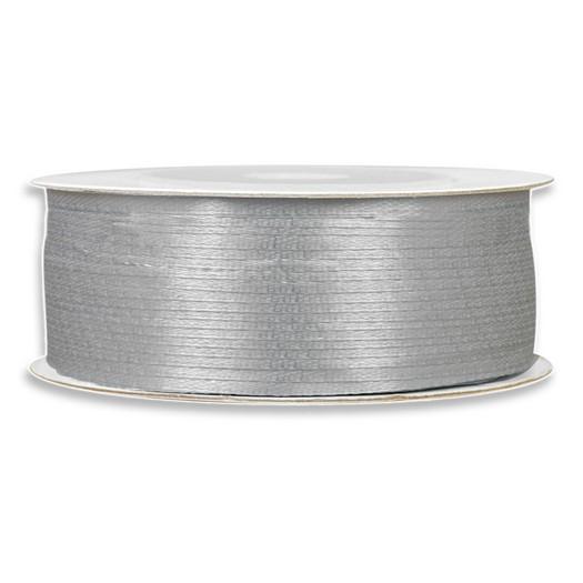 Κορδέλα σατέν, 100m x 3mm, ασημί