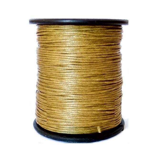 Κορδόνι κερωμένο χρυσό 0,1cmx100m