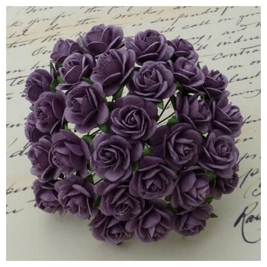 Λουλούδια PURPLE ROSES, 20mm