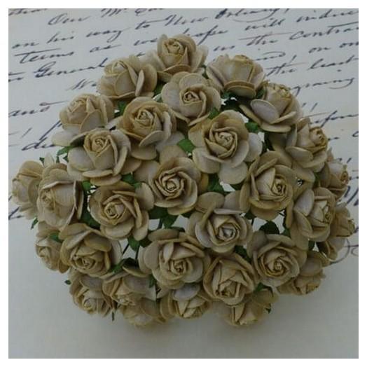 Λουλούδια LIGHT MOCHA ROSES, 20mm