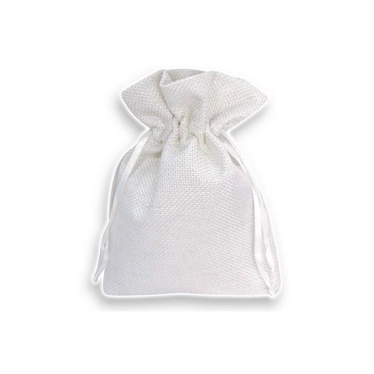 Πουγκί λινό 12x16cm, 10 τμχ, λευκό