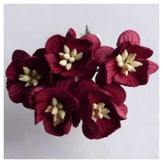 Λουλούδια BURGUNDY CHERRY BLOSSOMS, 25mm