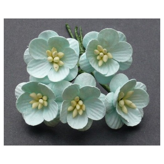 Λουλούδια PASTEL GREEN CHERRY BLOSSOMS, 25mm