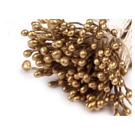 Flower Stamen Pearle - Old gold