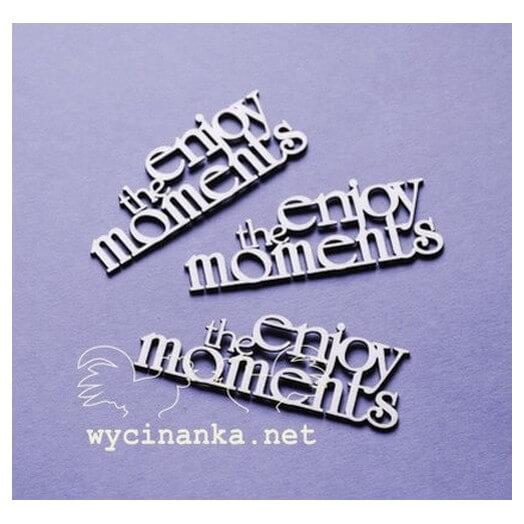 Διακοσμητικά Chipboard «Enjoy the moments», 2,5x7cm, 3 τεμ.