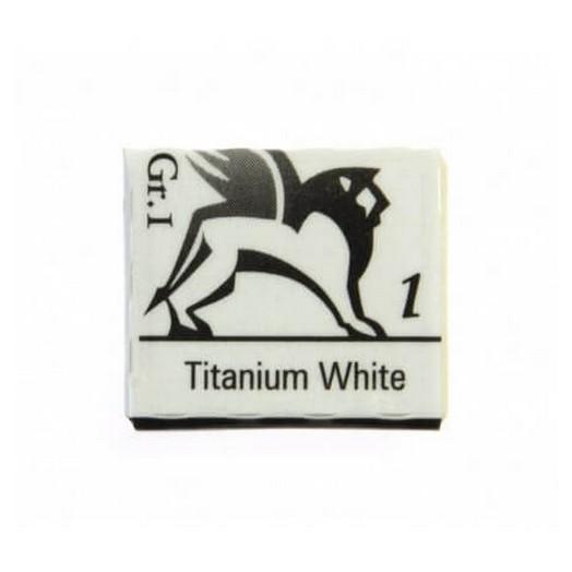 Παστίλιες ακουαρέλας 1,5ml - Titanium White