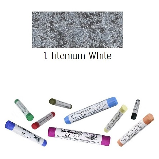Soft pastel Extrafine Renesans - Titanium White