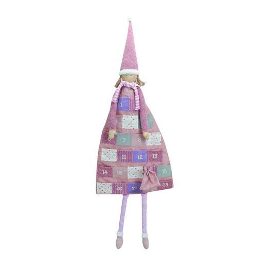 Ημερολόγιο advent κοριτσάκι, 51x140cm, pink