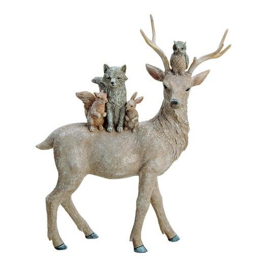 Τάρανδος με ζωάκια, 28x35x10cm