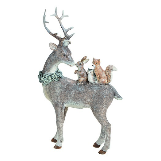 Τάρανδος με ζωάκια, 16x26x5cm