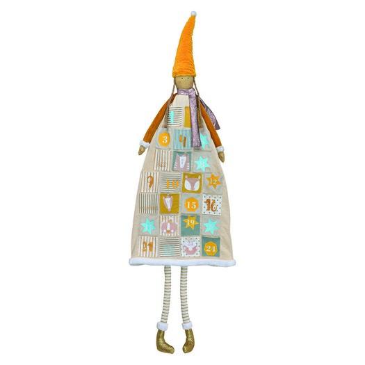 Ημερολόγιο advent κοριτσάκι, 47x140x9cm, orange