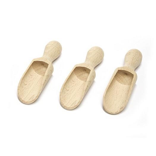 Σέσουλες ξύλινες 8,5x2,5cm ,σετ 3τεμ
