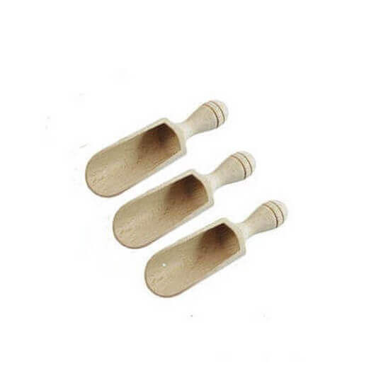 Σέσουλες ξύλινες 10,5x3,5cm ,σετ 3τεμ