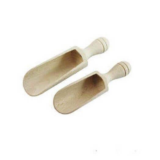 Σέσουλες ξύλινες 12,5x3,6cm ,σετ 2τεμ