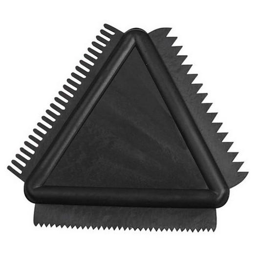 Τριγωνική χτένα καουτσούκ 9cm
