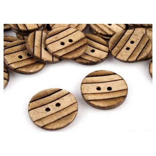Σετ κουμπιά ξύλινα, 22 mm, 20 τεμ.