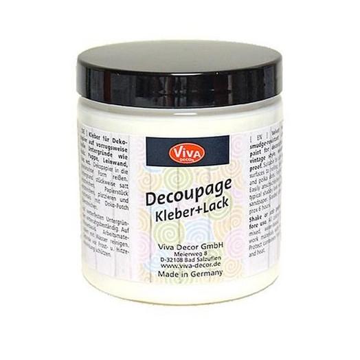 Decoupage Glue Varnish 250 ml - Transparent, Viva Décor