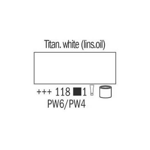 Λάδι Van Gogh Talens 20ml, Titanium White Linseed