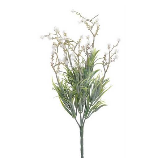 Μπουκέτο λευκά αγριολούλουδα, 34cm