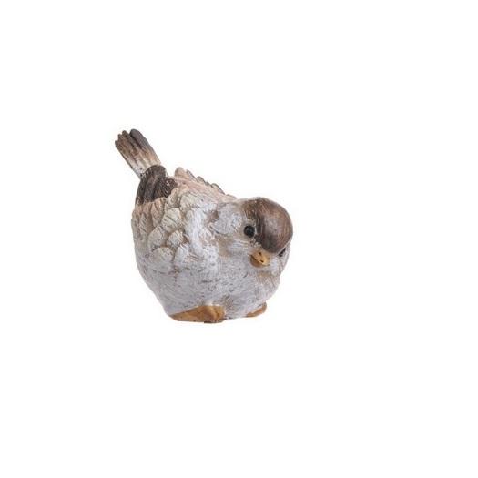 Πουλάκι κεραμικό brown, 7cm, σκυφτό