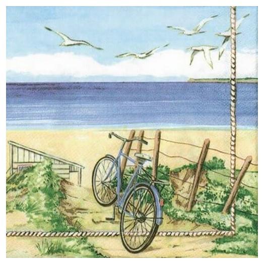 Χαρτοπετσέτα για Decoupage Beach Bicycle, 1τεμ