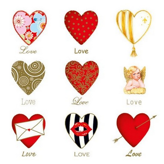 Χαρτοπετσέτα για Decoupage Love, 1τεμ