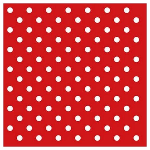 Χαρτοπετσέτα για Decoupage Dots Red ,1 τεμ.