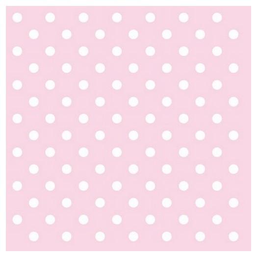 Χαρτοπετσέτα για Decoupage ,Pastel Dots Rose 1 τεμ.
