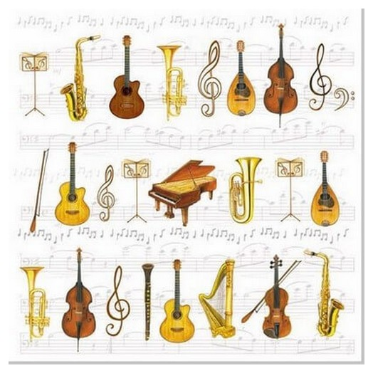 Χαρτοπετσέτα για Decoupage Orchestra, 1τεμ