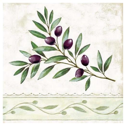 Χαρτοπετσέτα για Decoupage Olive Branch, 1 τεμ