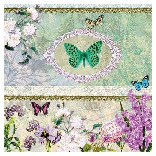 Χαρτοπετσέτα για Decoupage Butterfly Medaillon, 1τεμ