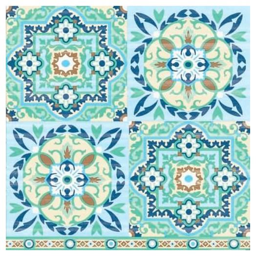 Χαρτοπετσέτα για Decoupage Tiles Green, 1 τεμ