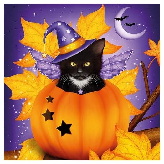 Χαρτοπετσέτα για Decoupage, Halloween Cat, 1 τεμ
