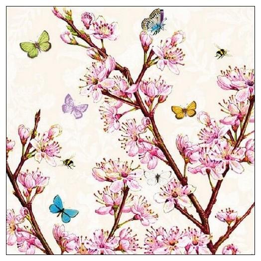 Χαρτοπετσέτα για Decoupage Blossom Cream, 1 τεμ