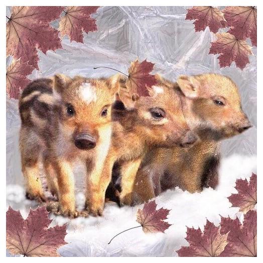 Χαρτοπετσέτα για Decoupage, Wild Boars, 1 τεμ