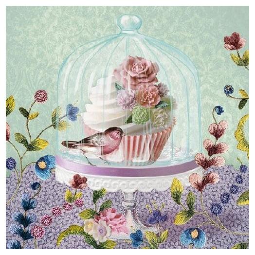 Χαρτοπετσέτα για Decoupage, Cupcake in Glass 1 τεμ