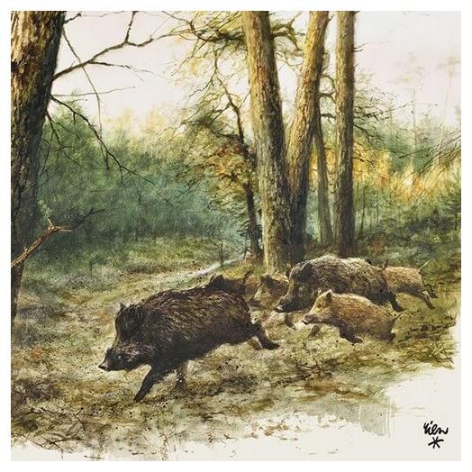 Χαρτοπετσέτα για Decoupage, Wild Boars In The Woods, 1 τεμ